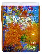 Light On The Autumn Path Duvet Cover