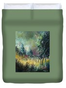 Light On Trees Duvet Cover