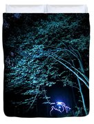 Light Painted Arched Tree  Duvet Cover