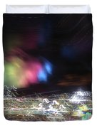 Light Paintings - No 1 - Lightning Squared Duvet Cover