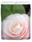 Light Pink Camellia Flower Duvet Cover