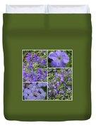 Light Purple Flowers Collage Duvet Cover