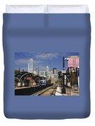 Light Rail In Charlotte Duvet Cover