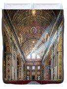 Light Rays In St Peter's, Rome Duvet Cover