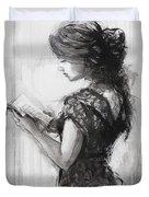Light Reading  Duvet Cover