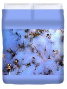 Light Snow In The Woods Duvet Cover