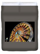 Light Streaks From The Spinning Ferris Wheel And Swing At Night  Duvet Cover
