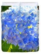 Light Through Blue Hydrangeas Duvet Cover