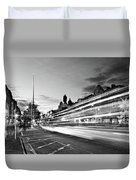Light Trails On O'connell Street At Night - Dublin Duvet Cover