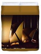 Light Up Sail Of Opera House  Duvet Cover