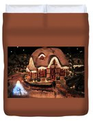 Lighted Christmas House  Duvet Cover