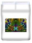 Lighted Flower Fractal Duvet Cover