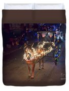 Lighted Pony Duvet Cover