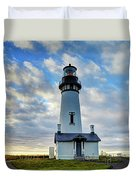 Lighthouse And Clouds Duvet Cover