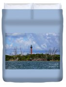 Lighthouse At Anclote Key Duvet Cover