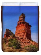 Lighthouse At Palo Duro Canyon Duvet Cover