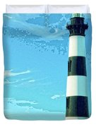 Lighthouse Bodie Island Duvet Cover