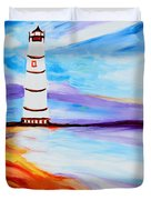 Lighthouse By The Sea Duvet Cover