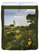 Lighthouse Daisies Duvet Cover