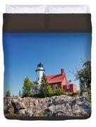 Lighthouse Eagle Harbor Lake Superior -6533 Duvet Cover