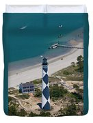 Lighthouse From Above Duvet Cover