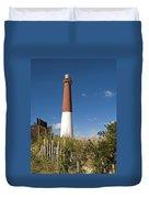 Lighthouse From Dunes Duvet Cover