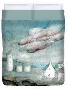 Lighthouse Harbour 1 Duvet Cover