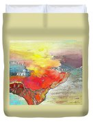 Lighthouse In Albir On The Costa Blanca Duvet Cover
