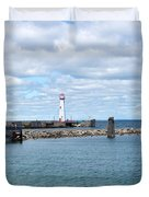 Lighthouse In Michigan Duvet Cover