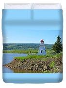 Lighthouse Landscape Duvet Cover