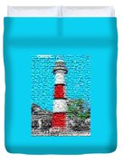 Lighthouse Made Of Lighthouses Mosaic Duvet Cover