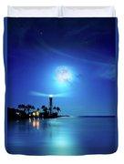 Lighthouse Moon Duvet Cover by Mark Andrew Thomas