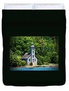 Lighthouse Munising Bay Duvet Cover