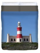 Lighthouse Of Agulhas Duvet Cover