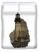 Lighthouse Of Old Duvet Cover