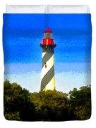 Lighthouse Of Saint Augustine Duvet Cover