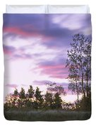 Lighthouse On A Landscape, Tawas Point Duvet Cover