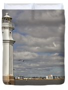 Lighthouse On A Sunny Day. Duvet Cover