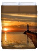 Lighthouse On Glass Duvet Cover