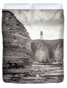 Lighthouse On The Cliff Duvet Cover