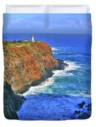 Lighthouse On The Hill Duvet Cover by Scott Mahon