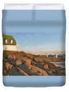 Lighthouse On The Ocean Duvet Cover