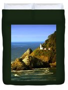 Lighthouse On The Oregon Coast Duvet Cover