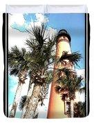Lighthouse Palms Duvet Cover