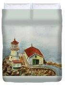 Lighthouse Point Reyes California Duvet Cover