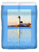 Lighthouse Reflection Duvet Cover
