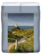 Lighthouse Twr Mawr Duvet Cover