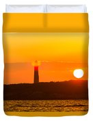Lighthouse With Flare Duvet Cover
