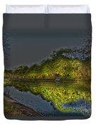 Lighting The Erie Canal Duvet Cover
