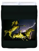 Lightning At Horse World Fine Art Print Duvet Cover